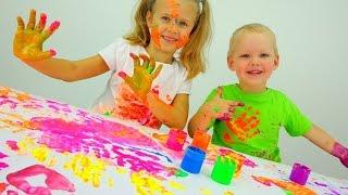 Играем вместе: ПАЛЬЧИКОВЫЕ КРАСКИ.  Развитие ребенка и Детское творчество. Дочки Матери