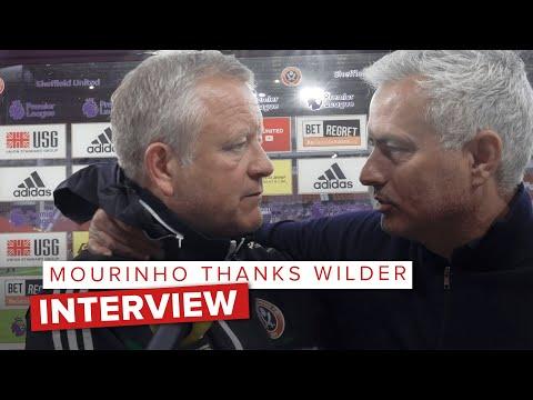 José Mourinho congratulates Chris Wilder | Post match interview Sheffield United vs Spurs