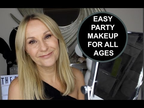 EASY PARTY MAKEUP TUTORIAL - DAY TO NIGHT - Nadine Baggott