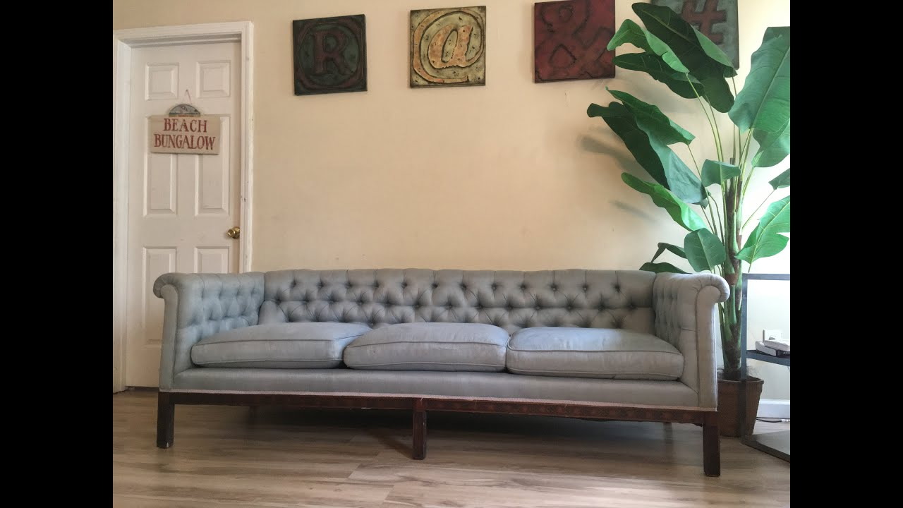 Seats And Sofas Youtube Vintage Chesterfield Tufted Sofa Rolled Arms Beautiful Sky