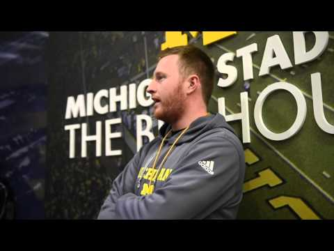 "Video: Michigan Tight Ends Coach Jay Harbaugh Talks Perspective As Young Coach And ""army Of Big, Tal"