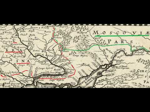 Украина и Россия на карте 1777 года