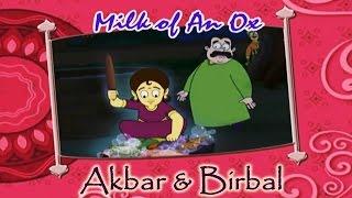 Akbar Birbal Animated Moral Stories || Milk Of An Ox || Hindi Vol 1
