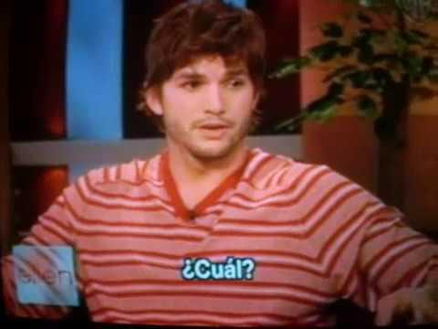 Ashton Kutcher en el Programa de Ellen Degeneres