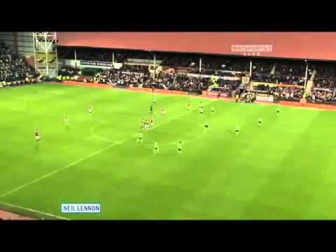 Neil Lennon slapped by John Wilson at Tynecastle