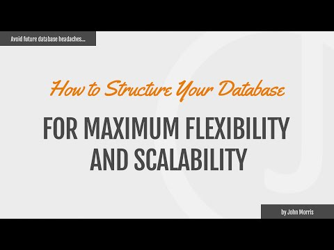 How to Structure Database and Object Model