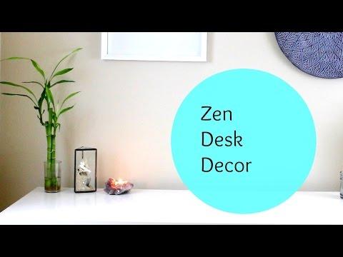 Zen Minimalist Desk Decor