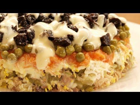Салат Прага / Homemade Prague salad ♡ English subtitles