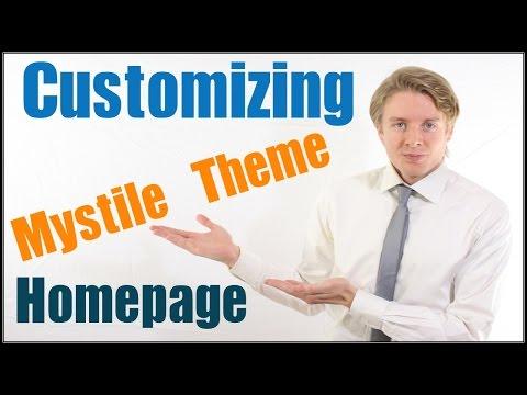 Customizing The Mystile Theme Homepage In Woocommerce