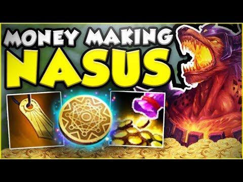 FASTEST FULL NASUS BUILD POSSIBLE?! MONEY MAKING NASUS SEASON 8 TOP GAMEPLAY! - League of Legends