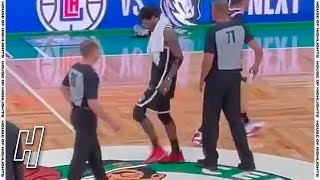Kyrie Irving Wiped His Shoe On The Celtics Logo After Nets Game 4 Win Vs Celtics