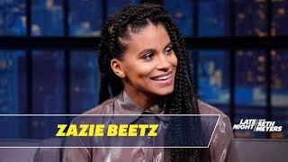 Zazie Beetz Knitted a Hat for Her Cat