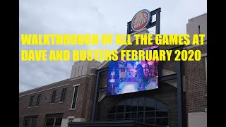 All Of The Games At Dave And Busters For February Of 2020 Myrtle Beach Sc