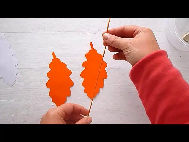 2 Клас. Мистецтво. Робимо листочок з кольорового паперу для святкової гірлянди або декору