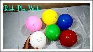 Learn colours with balloons/nursery kids colour learning video # Palak play world.