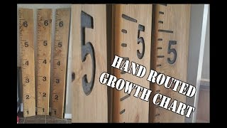 How to make a Child Growth Chart Ruler - Using a Router