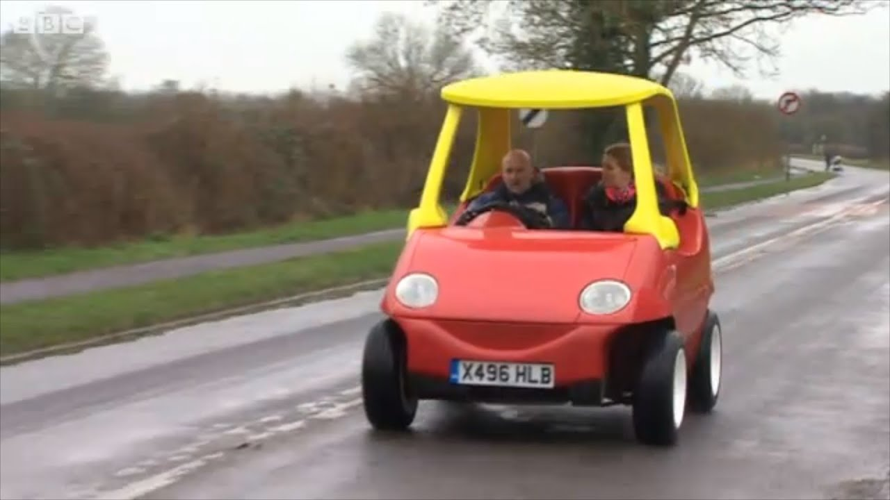 real toy car driven on roads
