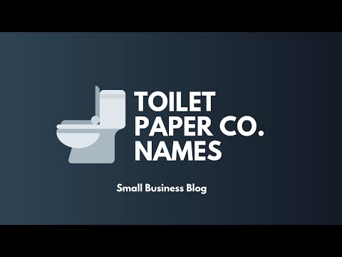 Catchy Toilet Paper Company Names
