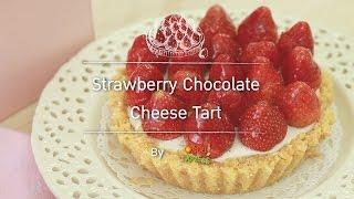 Strawberry Chocolate Cheese Tart
