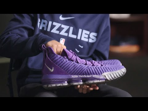LeBron James gives game-worn shoes to Grizzlies equipment assistant