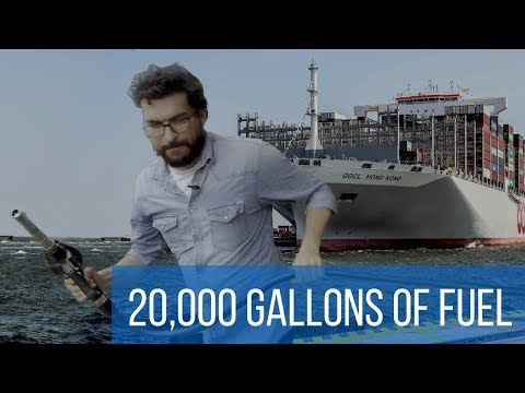How to fill up the tank of the largest container ship in the world?