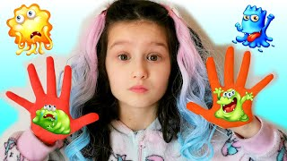 Wash your hands Story for kids by Alice and TOYS // Funny videos for  washing hands
