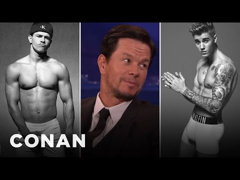 Mark Wahlberg: Justin Bieber Sent Me His Calvin Klein Ad   CONAN on TBS