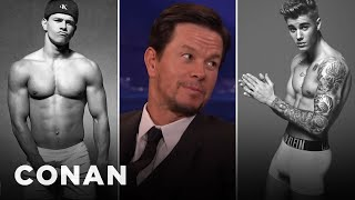 Repeat youtube video Mark Wahlberg: Justin Bieber Sent Me His Calvin Klein Ad  - CONAN on TBS