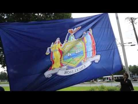 New York State Flag by SaratogaFlag.com