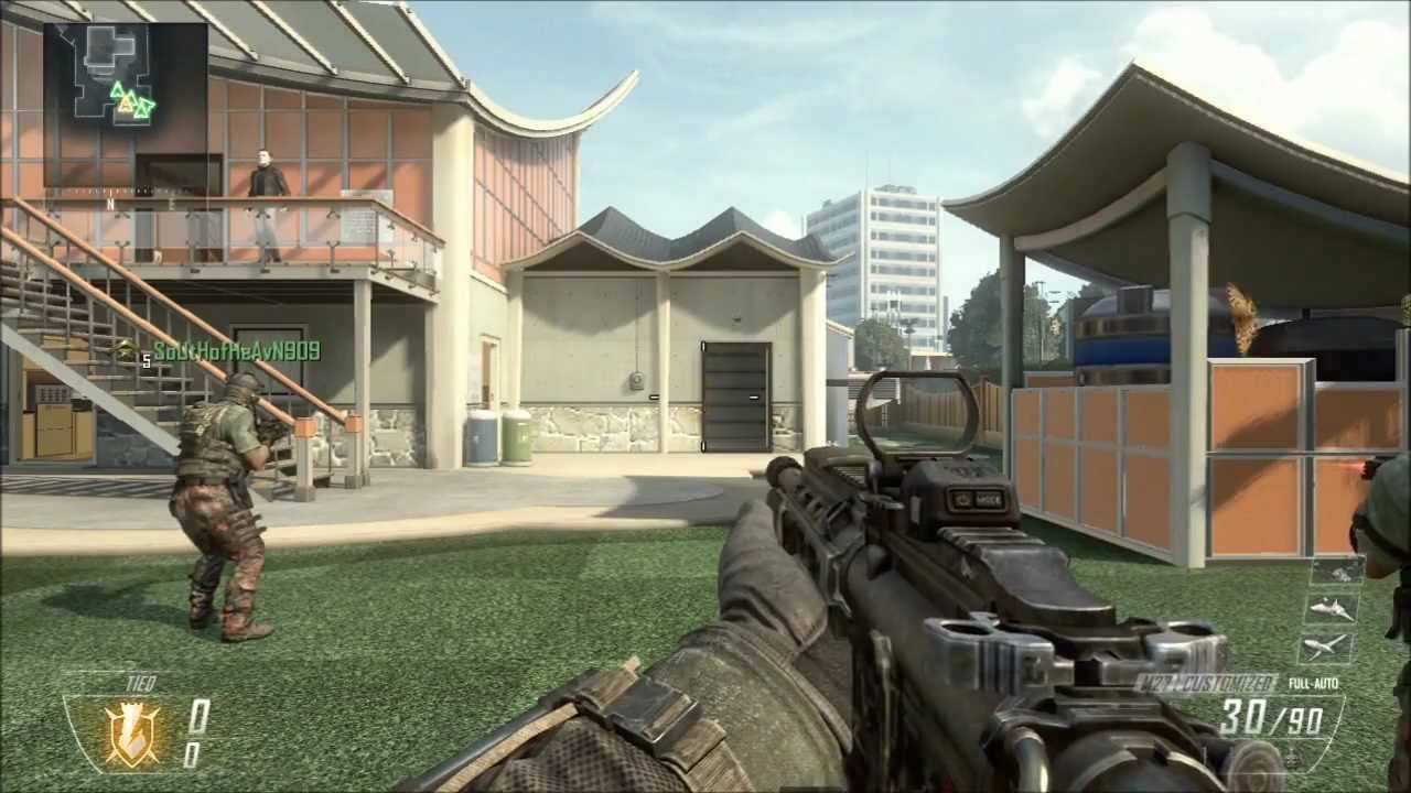 Black Ops 2 Multiplayer Gameplay: First Impressions Pt 1 ... M1216 Black Ops 2