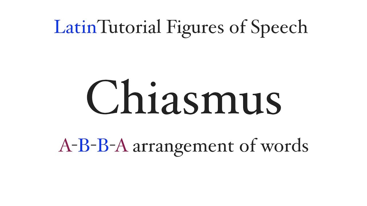 Chiasmus Figures Of Speech Youtube