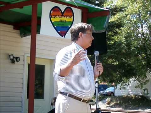 Gary Peters at Harrisville Equalityfest Aug 17 2013