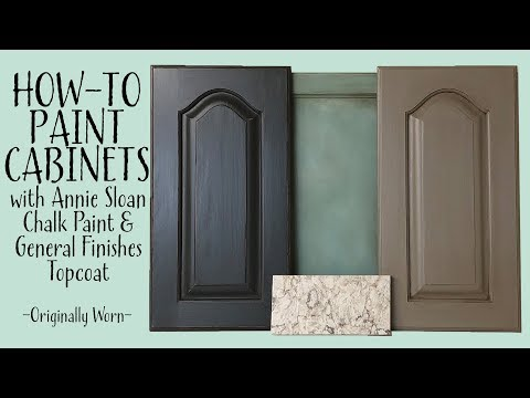 Cabinets With Annie Sloan Chalk Paint And General Finishes Top Coat