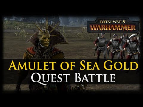 AMULET OF SEA GOLD! Total War: WARHAMMER - Empire Quest Battle Gameplay
