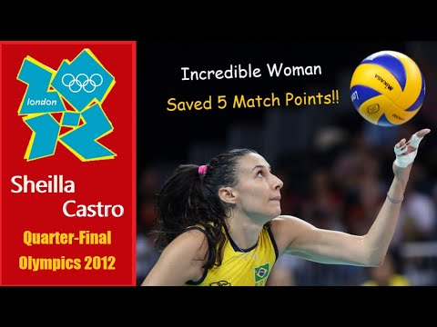 Sheilla Castro I Incredible woman I Match Point Saver I Brazil vs Russia Quarter-Final Olympic 2012
