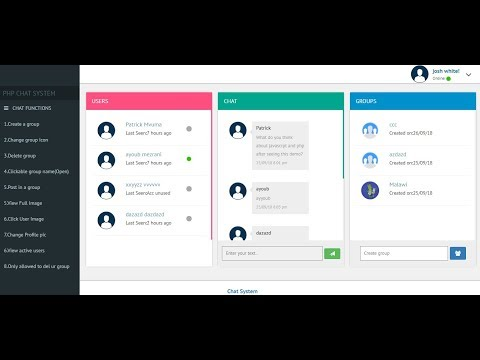Chat Application Like Messenger Using PHP + Source Code