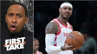 Carmelo needs to end up with LeBron and the Lakers – Stephen A. | First Take