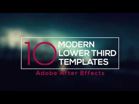 After Effects - 10 Different Lower Third Animations (Motion Graphics)