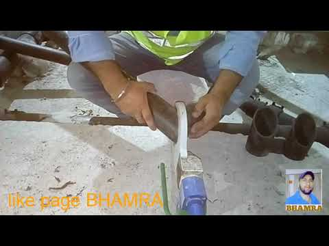 Sokhi art plumbers Bahrain.H.D.P.E pipe joint with hot plate.rinks Bhamra