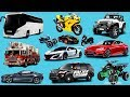 Learn names and sounds of City vehicles | Learn Transport in english for Kids