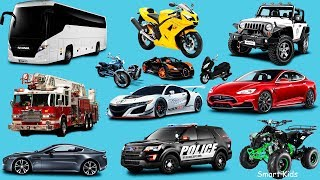 Transport for Kids | Learn names and sounds of City vehicles | Learn Transport in english for Kids