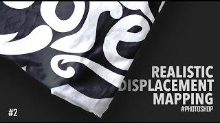 Realistic Displacement Mapping | Photoshop Tutorial | T-Shirt MockUp#2