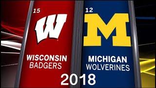 15 Wisconsin Football @ 12 Michigan 2018