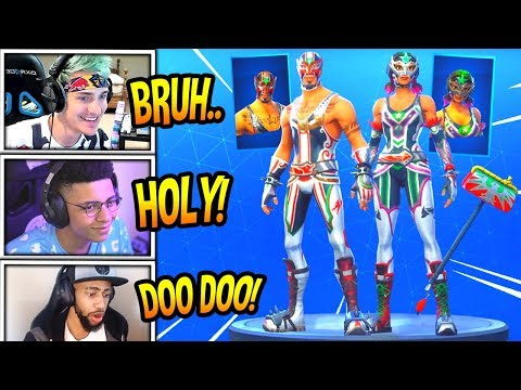 STREAMERS REACT TO *NEW* MASKED FURY & DYNAMO SKINS! + PILEDRIVER AXE! Fortnite FUNNY Moments