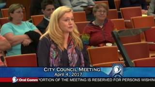 Resident Leigh Anne Gillis in Oral Comm on 4/4/2017 Supporting VallCo CAC
