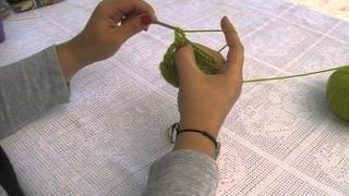 Βελονάκι: διπλό ποδαράκι (triple crochet).