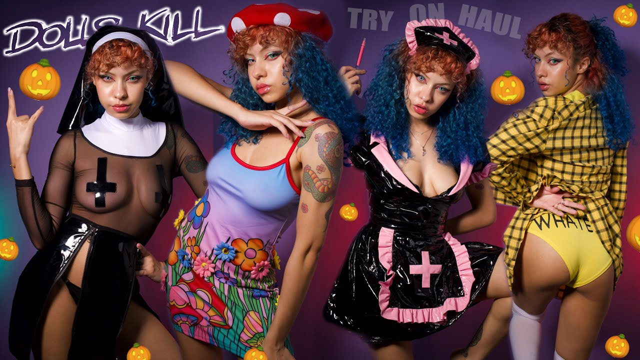 Dolls Kill HALLOWEEN Try On Haul 2021 - Costumes ideas & Patreon Artist Cosplay BTS
