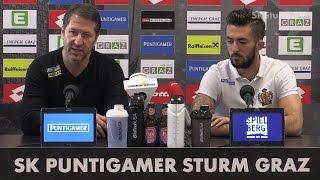 SK Sturm: Mediabriefing vor SV Mattersburg (30. Runde 2016/17)