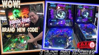 #1439 Gottlieb BLACK HOLE & Data East JURASSIC PARK Pinball Machines-TNT Amusements