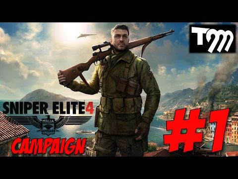 BULLET BRUTALITY!! - Sniper Elite 4 Campaign Walkthrough #1